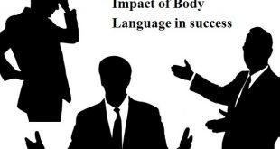 Impact of body language in success