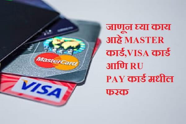 Difference Between Visa and Mastercard and Rupay